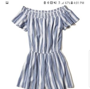 Hollister striped romper medium